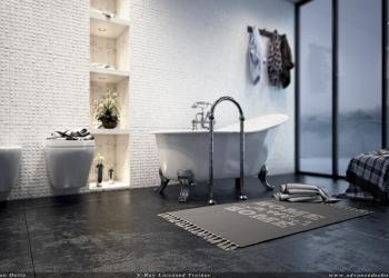 Toilet with dof